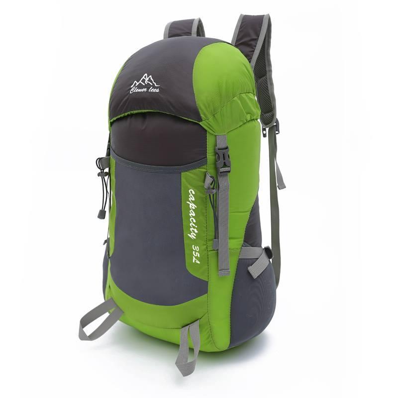 Легкий туристичний рюкзак для трекінгу. Складаний рюкзак 35 літра. Зелений.