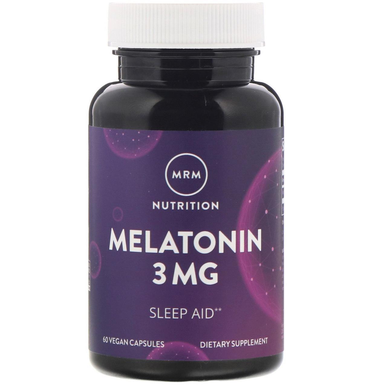Мелатонин, 3 мг, 60 веганских капсул MRM