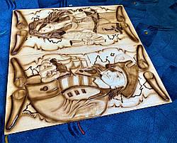 "Нарды "" Покорители морей "", ручная работа, фото 3"