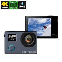 Экшн-камера REXSO Explorer 4K - два экрана, полный комплект