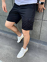 Шорты WOW Карго летние повседневные с карманами Качество LUX Черные