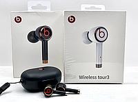 Наушники Bluetooth Beats Tour 3/L2, беспроводная блютуз гарнитура с зарядным кейсом