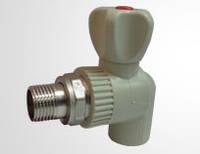 Кран радиаторный угловой PPR 20 x 1/2 ROZMA