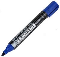Маркер перманентный Deli S552 круглый синий