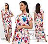 Ніжне жіноче плаття в квітковий принт (3 кольори) SD/-667 - Пудра