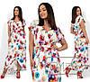 Ніжне жіноче плаття в квітковий принт (3 кольори) SD/-667 - Білий