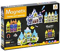 Конструктор Магнитный с шариками Замок 60 деталей Magnetic AQ-908