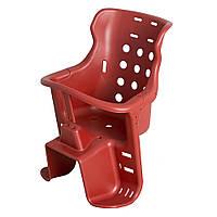 Кресло детское на велосипед, велокресло (пластик) (красное) SVT
