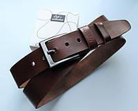 """Мужской кожаный ремень """"Moderni"""" для джинсов коричневый, фото 1"""