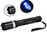 Многофункциональный тактический электро фонарик с отпугивателем Police 1104 158000KV (4265)
