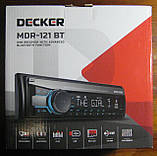 Автомагнитола Decker MDR-121 BT (Bluetooth, синяя подсветка), фото 2
