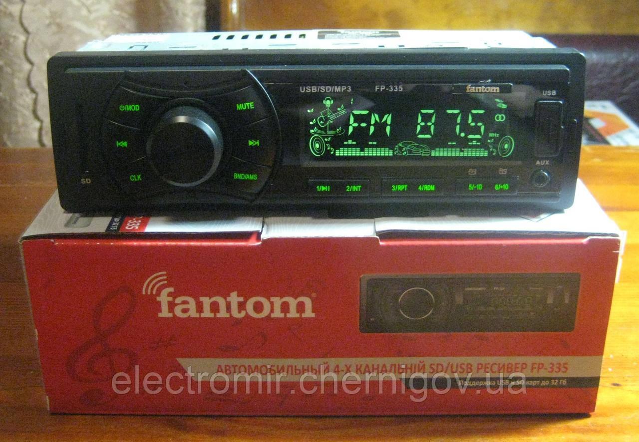 Автомагнитола Fantom FP-335 (зелёная подсветка)