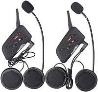 Мотогарнитура Bluetooth на шлем, ПАРА, интерком Fodsports V6 Pro 1200