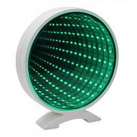 Светильник Бесконечность с Usb Круг (зеленый)