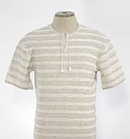 Льняная мужская вышиванка