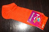 Носки женские ультра короткие хлопок размер 36-40 оранж