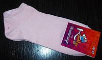 Носки женские ультра короткие хлопок размер 36-40 розовые