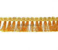 Тесьма с Бахромой 3 см, золотая