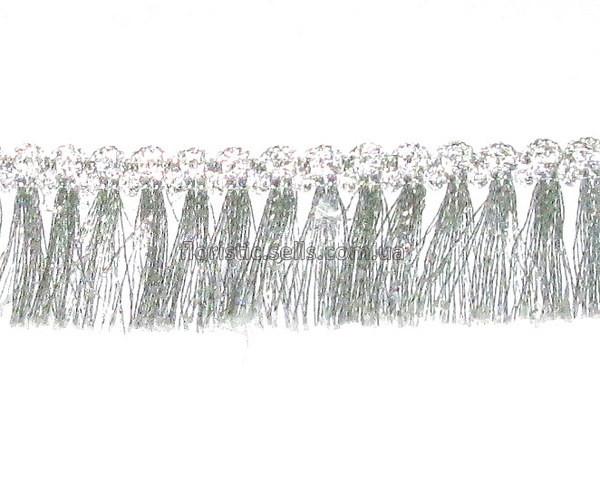 Тесьма с Бахромой 3 см, серебро