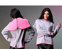 Кофта, куртка с молнией сзади (серая модель, розовая модель)