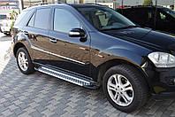 "Боковые пороги ""X5-тип"" (площадка, ступенька) Mercedes ML klass W164"