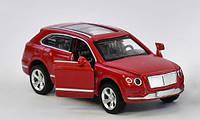 Машинка металлопластиковая инерционная с открывающимися дверями, красная SKL11-184326
