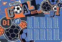 """Подложка для стола YES детская """"Footbal"""", умножения, код: 491805"""