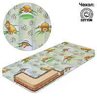 Матрас кокос-поролон-гречка-хлопок 1 Беби-Текс-Мишка в постели 15354 салатовый SKL11-221170