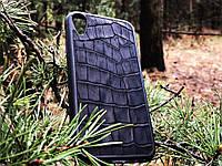 Чехол для (Iphone 10XR) alligator black, фото 1