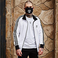 Олимпийка мужская в стиле Adidas Round белая, фото 1