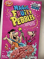 Сухой завтрак Fruity Pebbles, где молоко меняет цвет