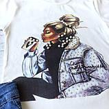 Летний джинсовый костюм на девочку 19.  Размер 134 см, 152 см, фото 2