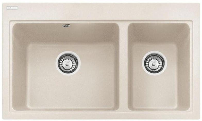 Кухонная мойка Franke Fiji FIG 620-80/114.0367.673/ фраграніт/ дві чаші/прямокутна/ваніль