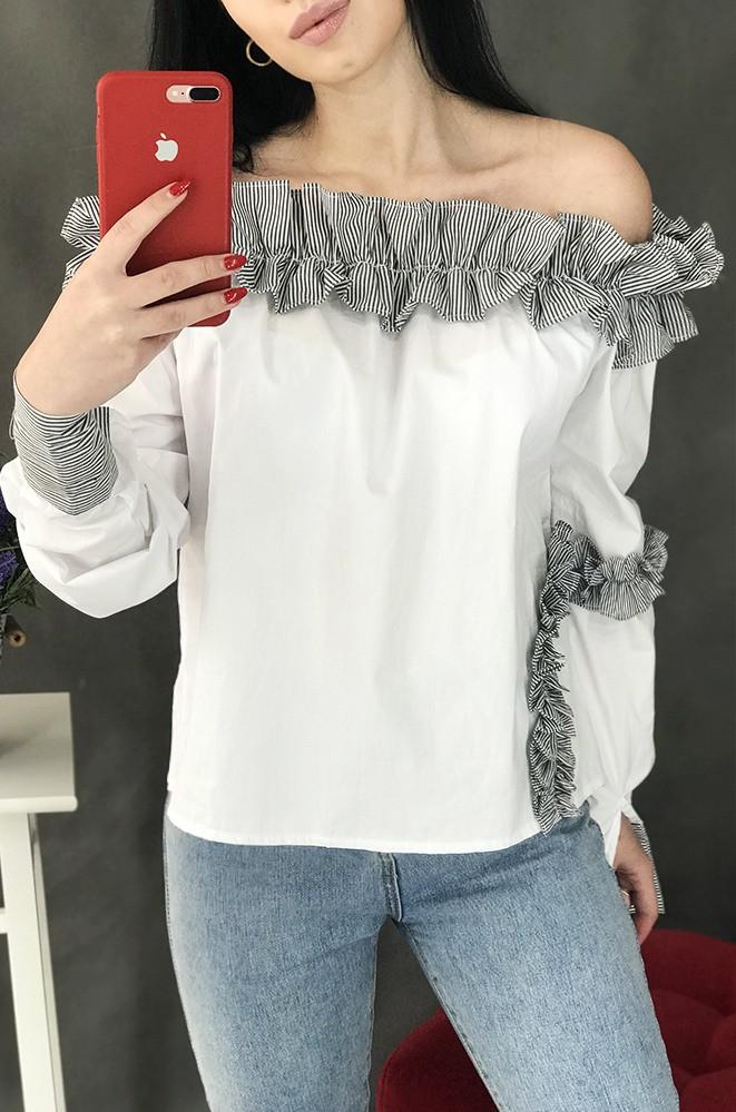 Блуза женская белая размер М 3176