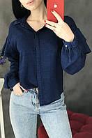 Рубашка женская cиняя размер S 3133