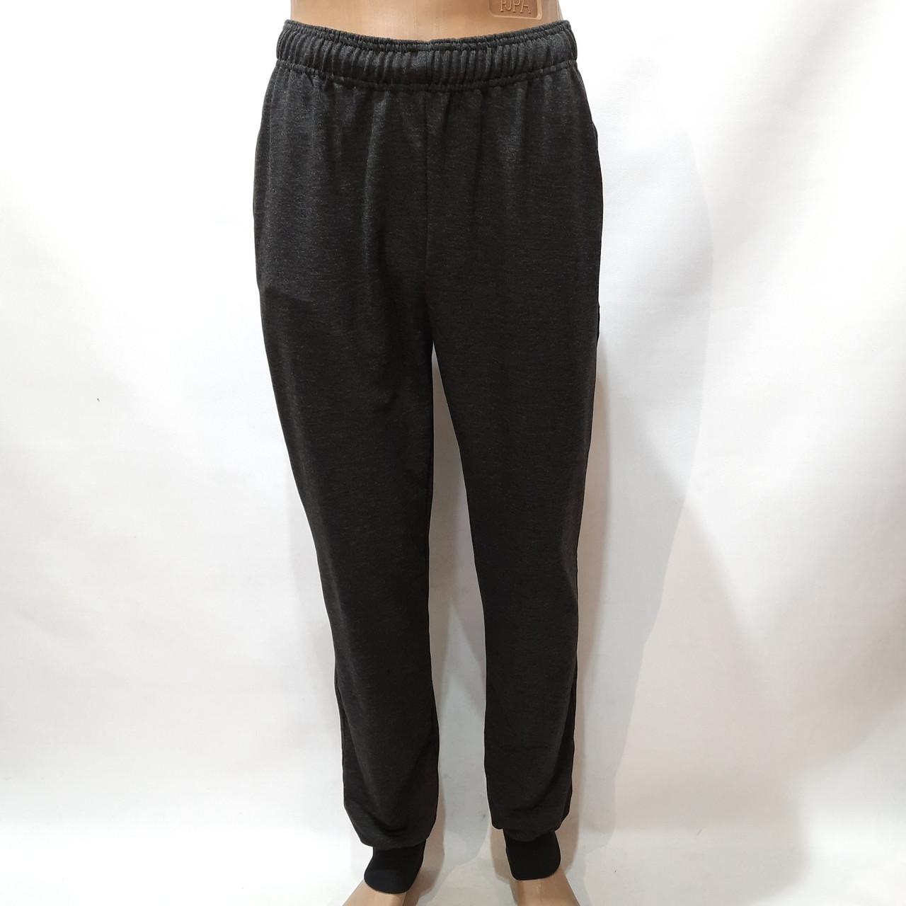 Спортивные штаны мужские под манжет (Больших размеров) р. 58,60,62,64 серые отличного качества