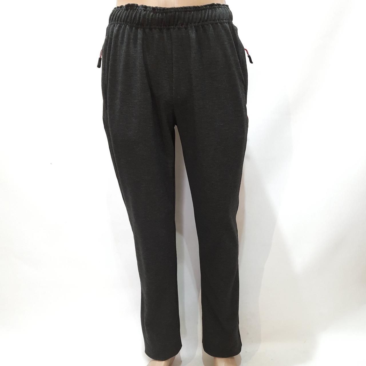 Спортивные штаны мужские прямые (Больших размеров) серые р. 58, 60, 62, 64 отличного качества