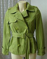 Плащ женский короткий неутепленный куртка бренд Debenhams р.44 3497