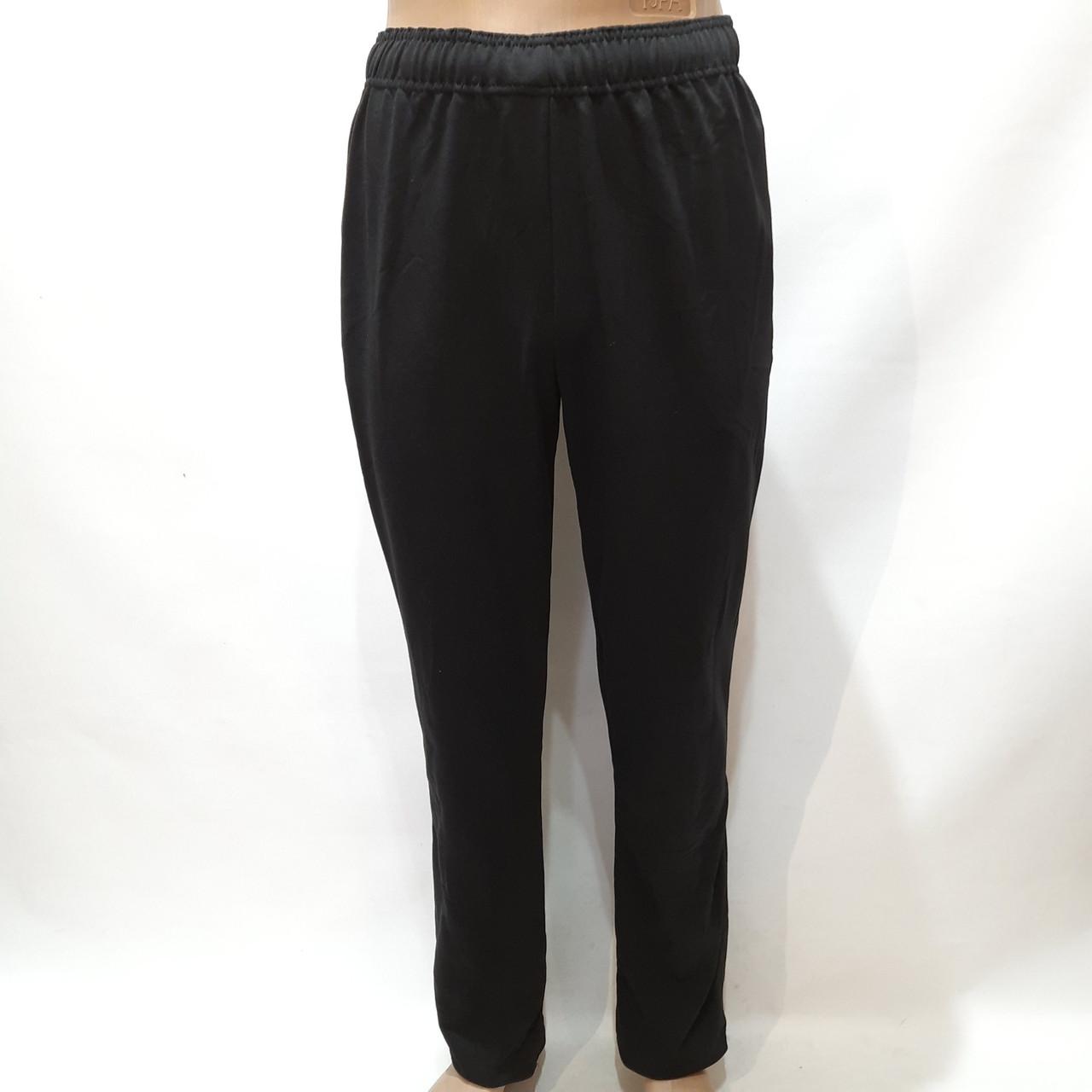 Спортивные штаны мужские прямые (Больших размеров) черные р. 58, 60, 62, 64 отличного качества