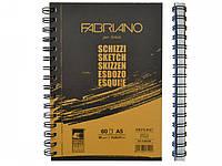 Альбом для эскизов Fabriano А5 60л 90г/м2 Schizzi Sketch спираль 8001348171492