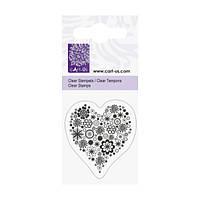 Штамп Knorr Prandell Квіткове серце розмір: 5x6 см акрил 4011643793576
