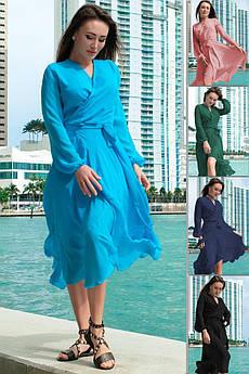 Шифонова сукня з довгим рукавом Мілена