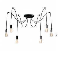 Люстра паук на 6 лампочек черная NL 149-6 Msk Electric