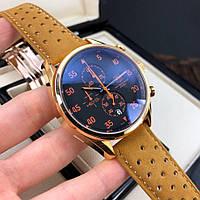 Часы TAG Heuer Carrera 1887 SpaceX Chronograph Brown-Gold-Black-Orange / Таг Хоер
