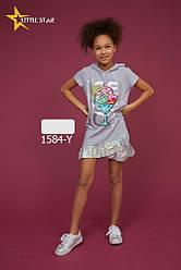 Платье туника  для девочки 5-12лет