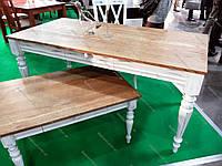 Стол обеденный деревянный  Френч, дуб массив