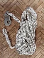 Фал капроновый канат 12м (петля + карабин), фото 1