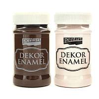 Краска акриловая ''Dekor Enamel'', глянцевая, Белая, 100мл, Pentart