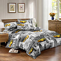 Двуспальный комплект постельного белья евро 200*220 сатин (10603) TM КРИСПОЛ Украина