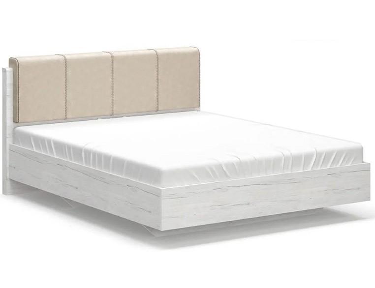 Кровать Ким Мебель Сервис (Карпатия отбеленый + Дуб Кари белый)
